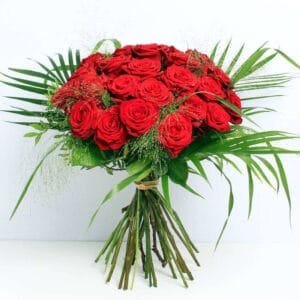 24 Red Roses bouquet of flowers