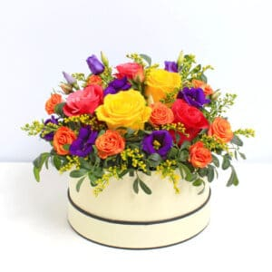 Citrus Squeeze Hatbox of Flowers Delivered