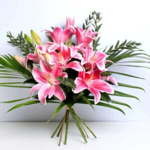Pink Lilies Bouquet Delivered