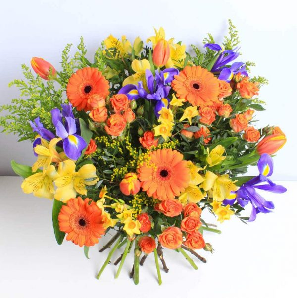 Sunny Days Bouquet of Flowers Wrapped and Delivered