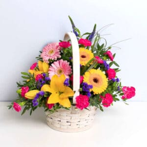 The Arcadia Basket Bouquet of Flowers