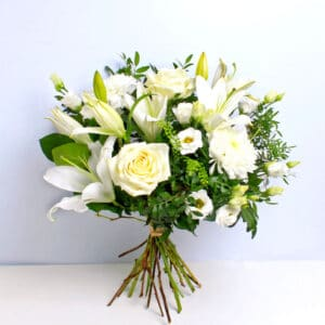 Timeless White Bouquet of Flowers