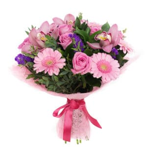 Pink mood bouquet of flowers