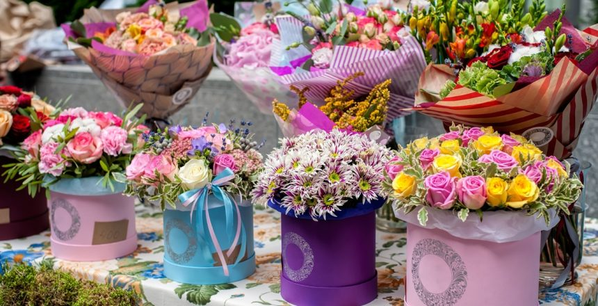 flower hat boxes